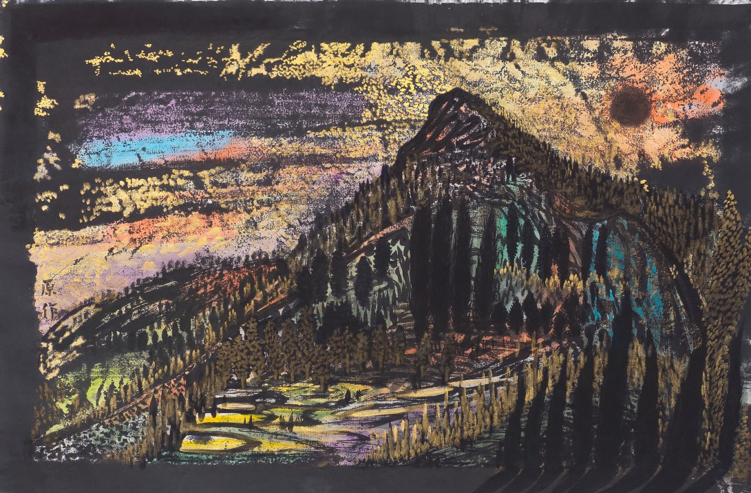19庇里牛斯山之旅 2016 紙本水墨設色45x69.5cm