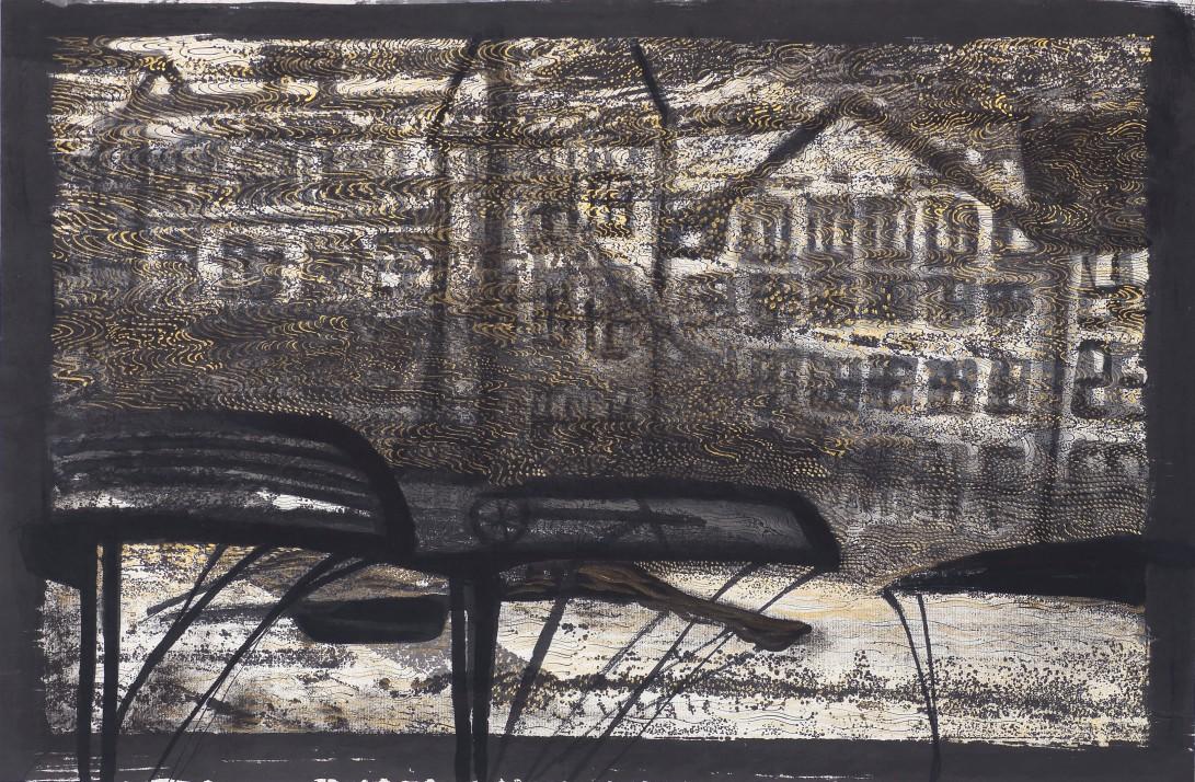 21倒影的倒影 2016 紙本水墨設色45x69.5cm