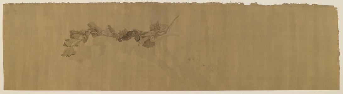 33 跋 2014 水墨、泥金宣 35x140cm(5.4才)