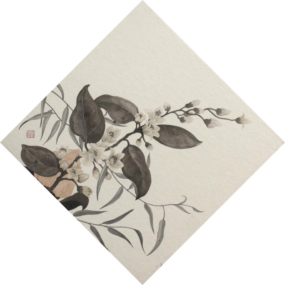 閑原 小草圖冊1- (1) 2012 紙本水墨畫 32x32cm