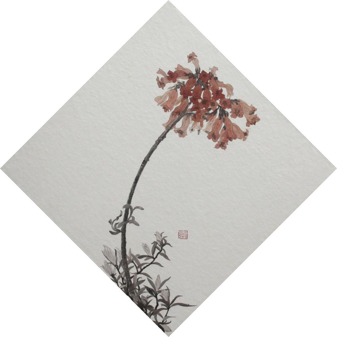閑原 小草圖冊1- (2) 2012 紙本水墨畫 32x32cm