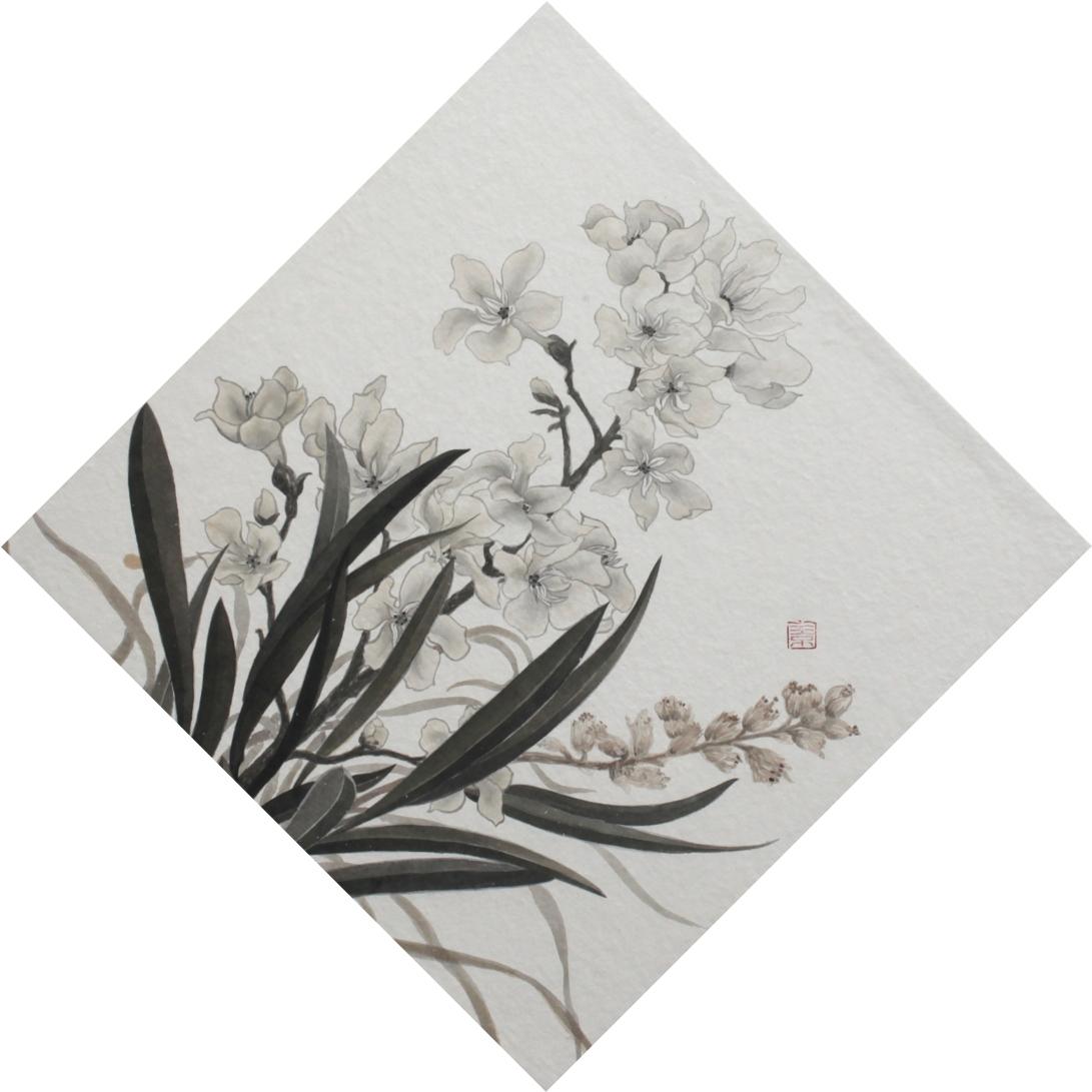 閑原 小草圖冊1- (3) 2012 紙本水墨畫 32x32cm