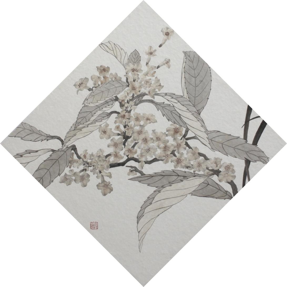 閑原 小草圖冊1- (4) 2012 紙本水墨畫 32x32cm