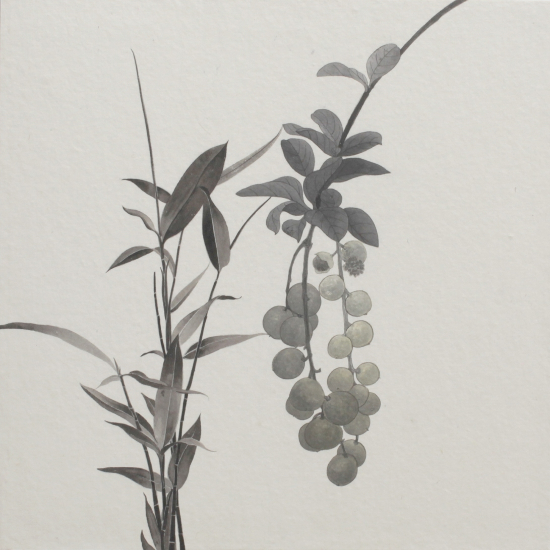 閑原 小草圖冊2- (32) 2012-2013紙本水墨畫 32x32cm