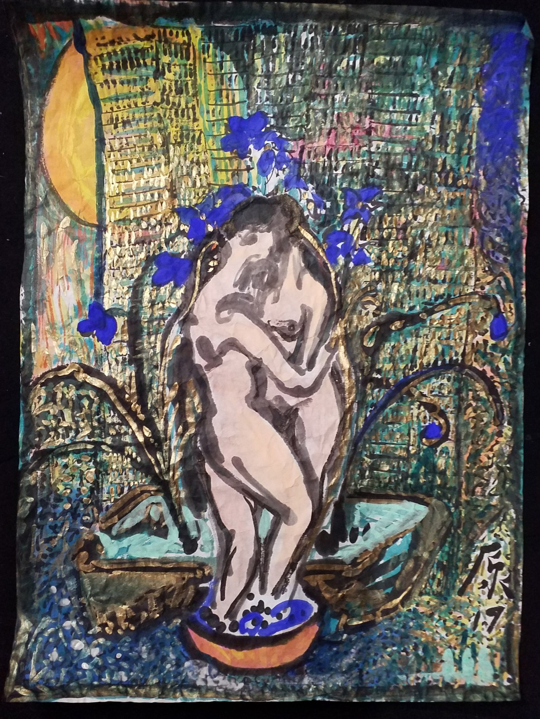 The couple, 2019, 69×47cm