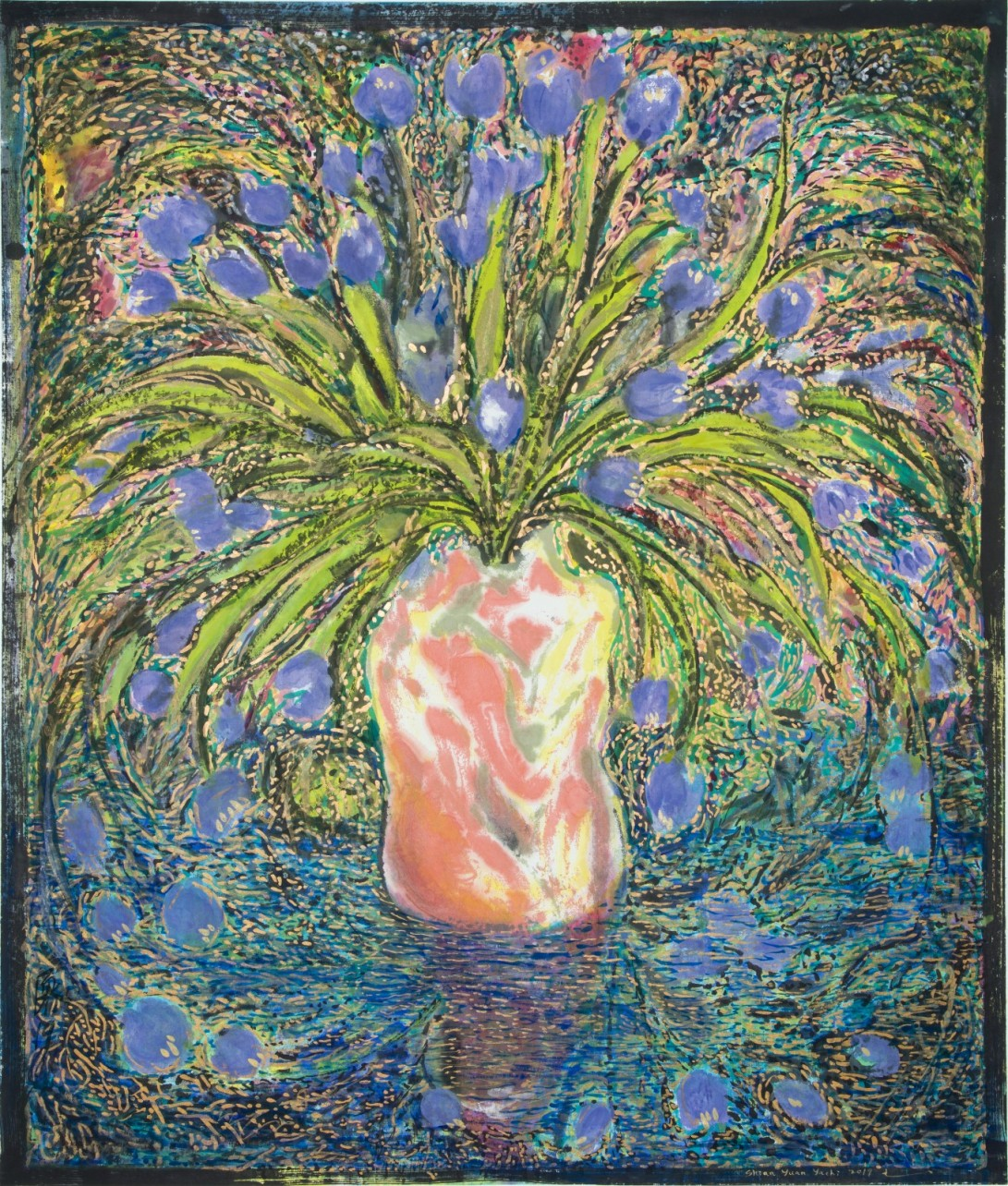 Tulips- after Munch the Kiss (1895)