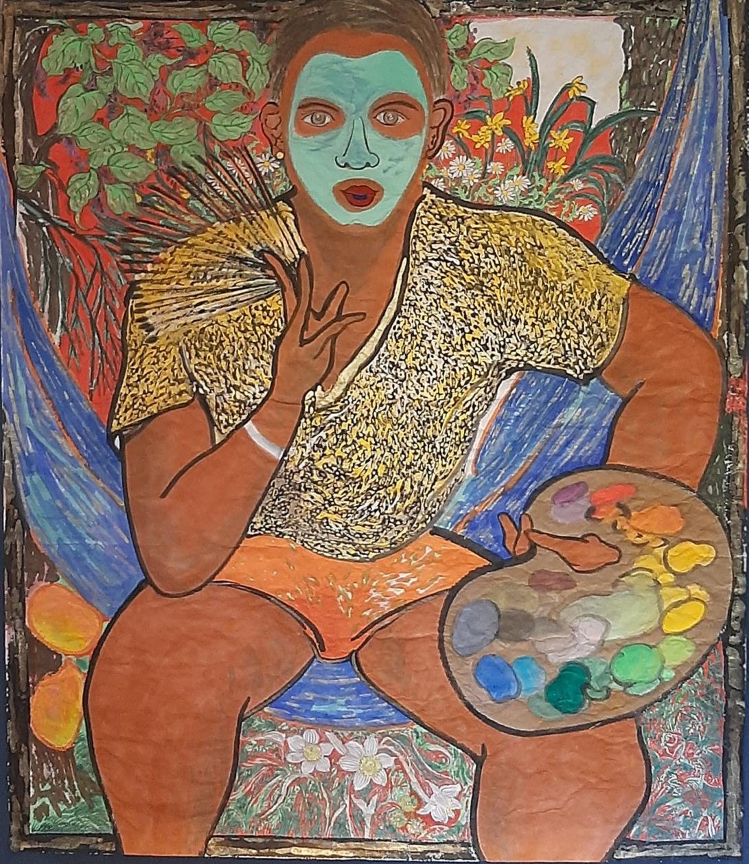 06 Mannen og fargene hans, 157cmx134cm papir og vann-besert pigment